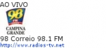 98 Correio 98.1 FM - Ao Vivo