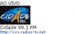 Cidade 99.1 FM - Ao Vivo