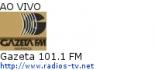Gazeta 101.1 FM - Ao Vivo
