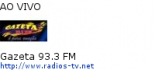 Gazeta 93.3 FM - Ao Vivo