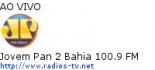 Jovem Pan 2 Bahia 100.9 FM - Ao Vivo