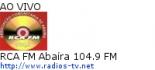 RCA FM Abaíra 104.9 FM - Ao Vivo