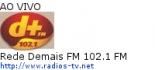 Rede Demais FM 102.1 FM - Ao Vivo