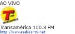 Transamérica 100.3 FM - Ao Vivo