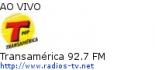 Transamérica 92.7 FM - Ao Vivo