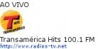 Transamérica Hits 100.1 FM - Ao Vivo