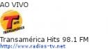 Transamérica Hits 98.1 FM - Ao Vivo