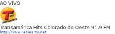 Transamérica Hits Colorado do Oeste 91.9 FM - Ao Vivo